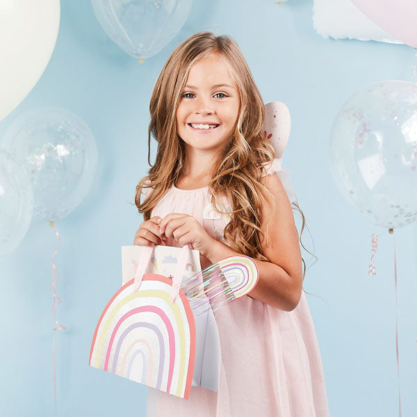 5 Rainbow Party Bags
