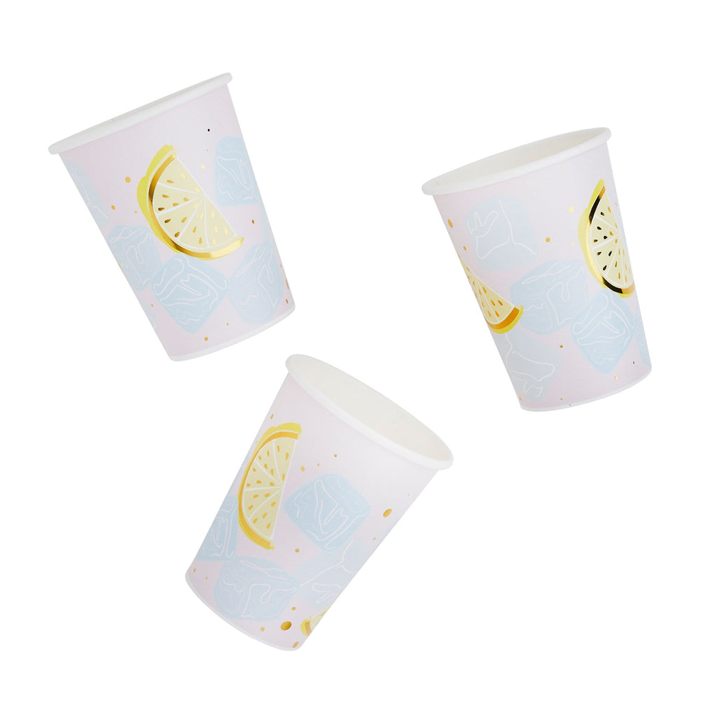 10 Pastel Cocktail Paper Cups