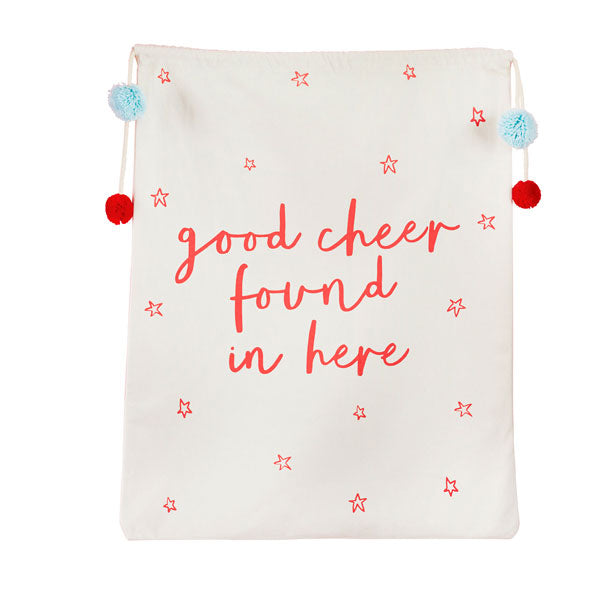 'Good Cheer Found Here' Present Sack
