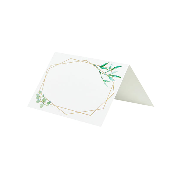 10 Geometric Place Cards