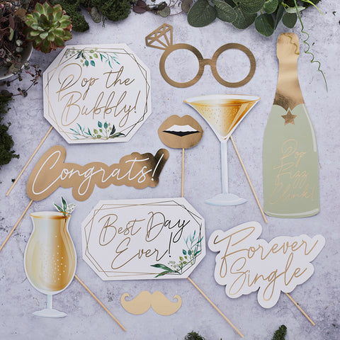 10 Geo Greenery Photo Booth Props