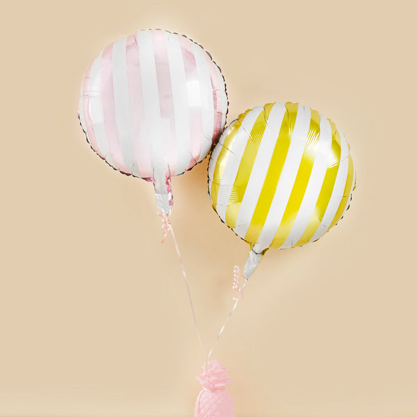 2 Candy Stripe Balloons