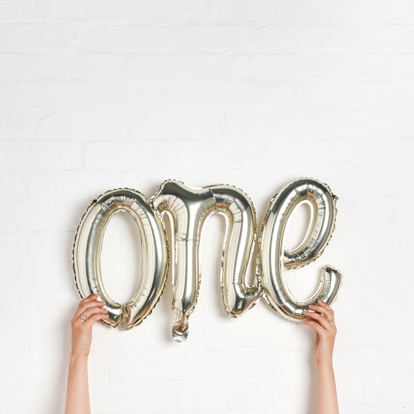 Gold 'One' Balloon