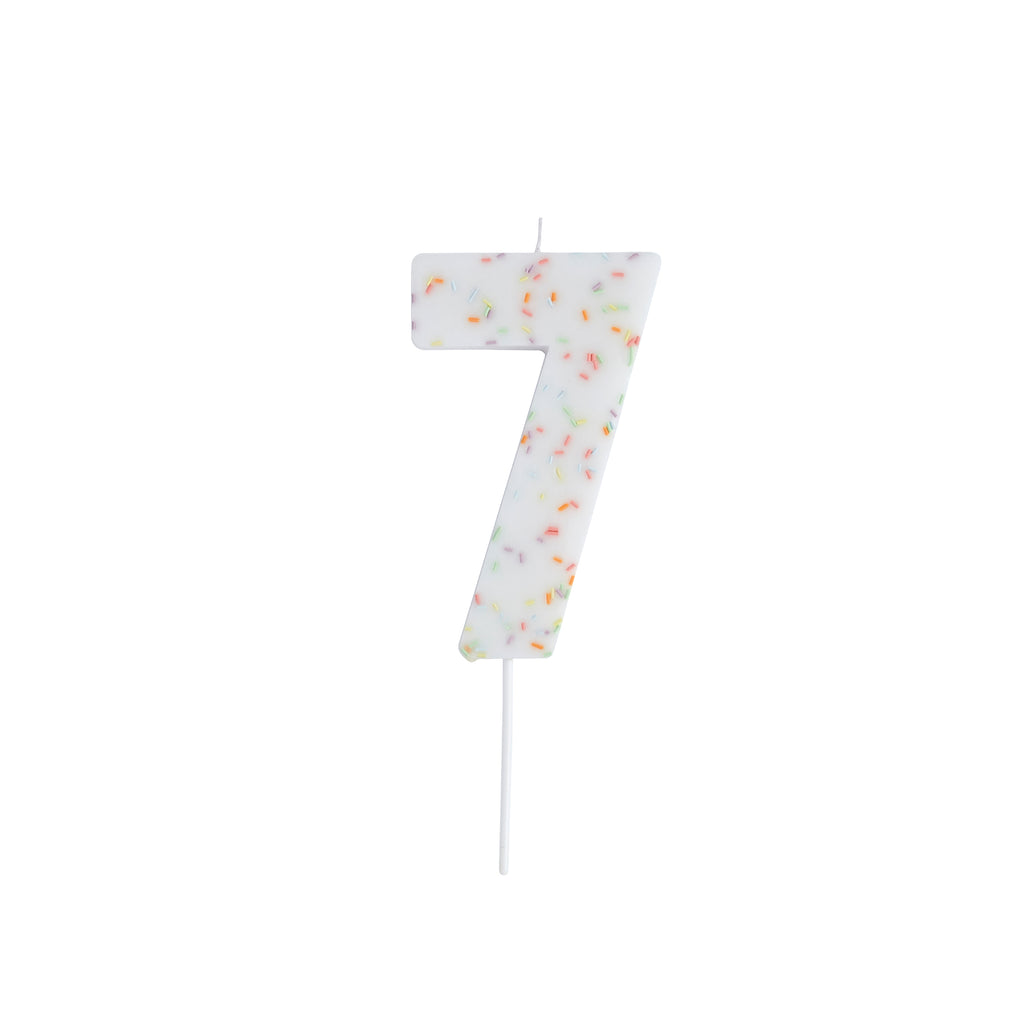 Giant Sprinkle Candle Number 7