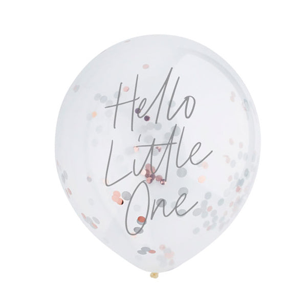 Hello Little One Confetti Balloons