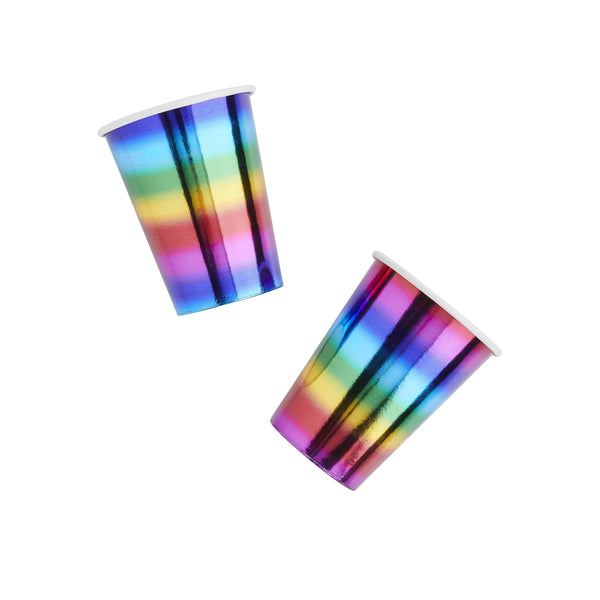 10 Rainbow Paper Cups