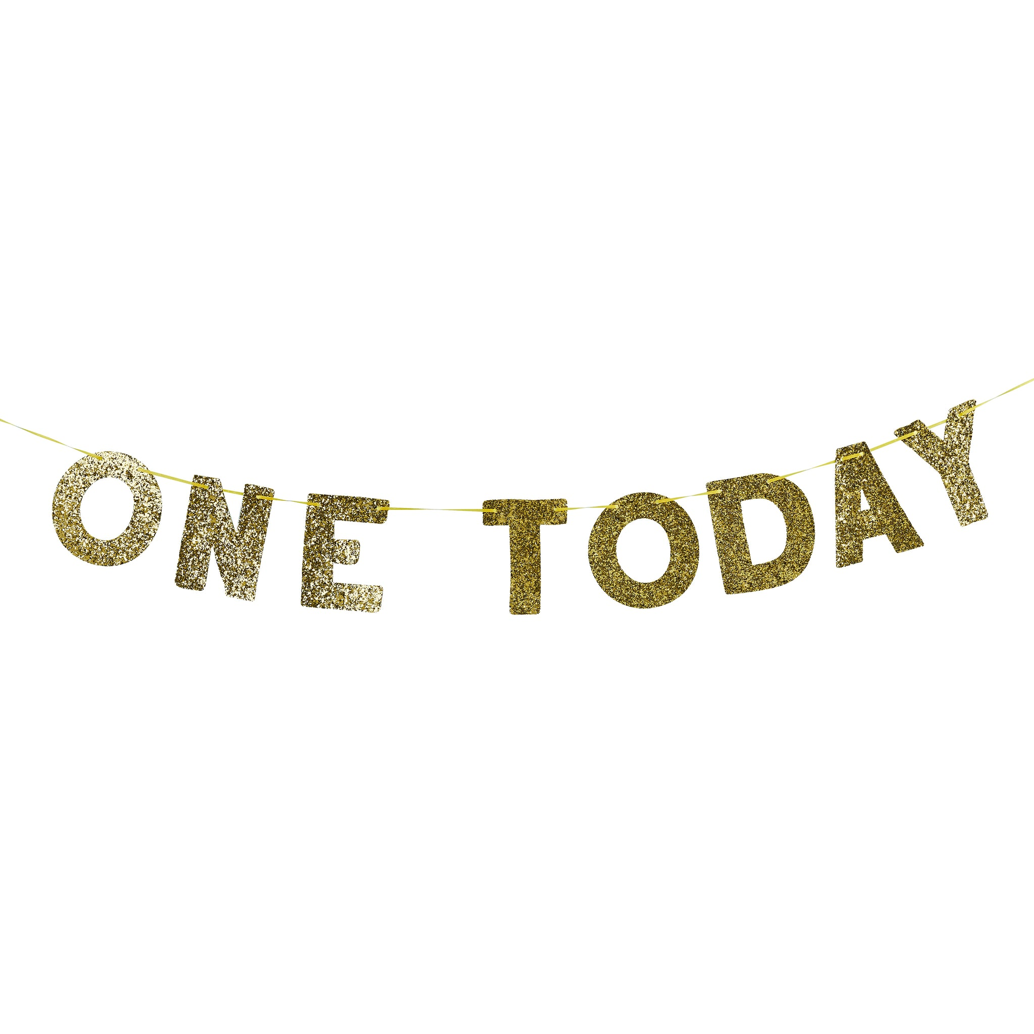 One Today Gold Glitter Banner 2M