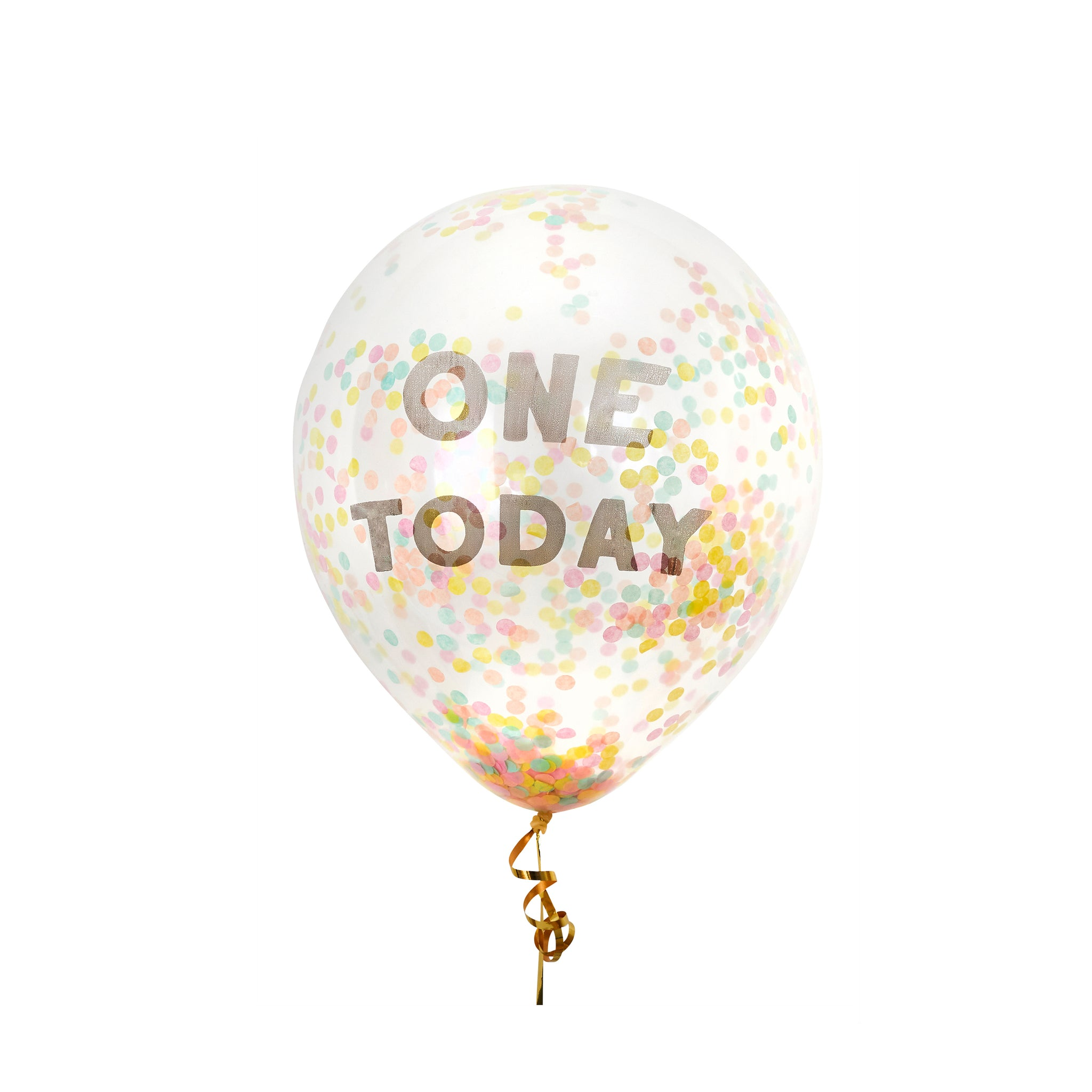 5 'One Today' Confetti Balloons