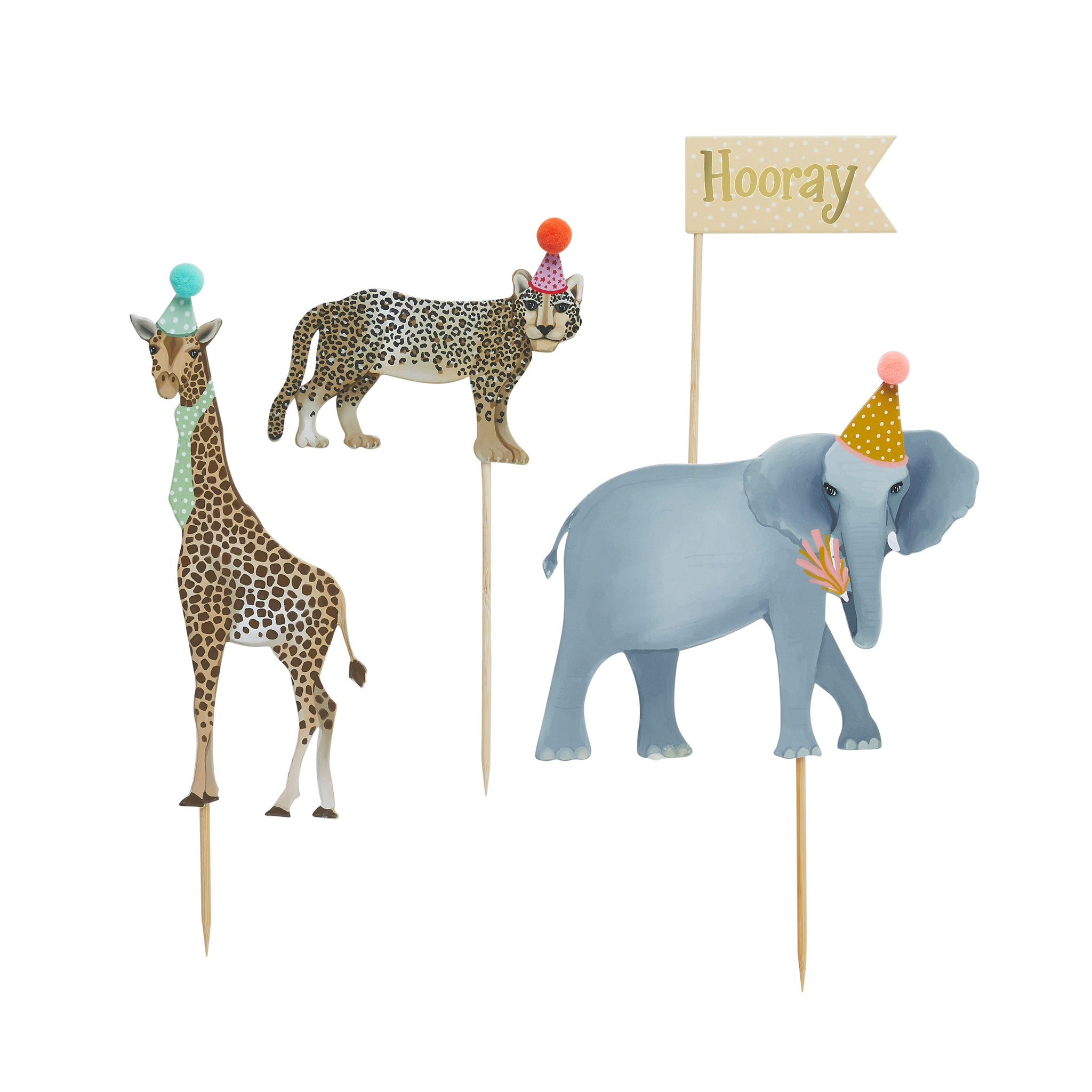 Party Animal Cake Topper Set