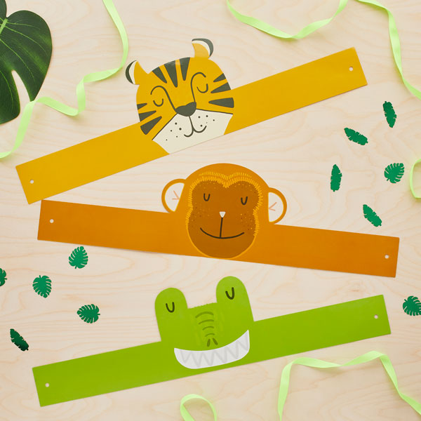 6 Jungle Animal Headbands