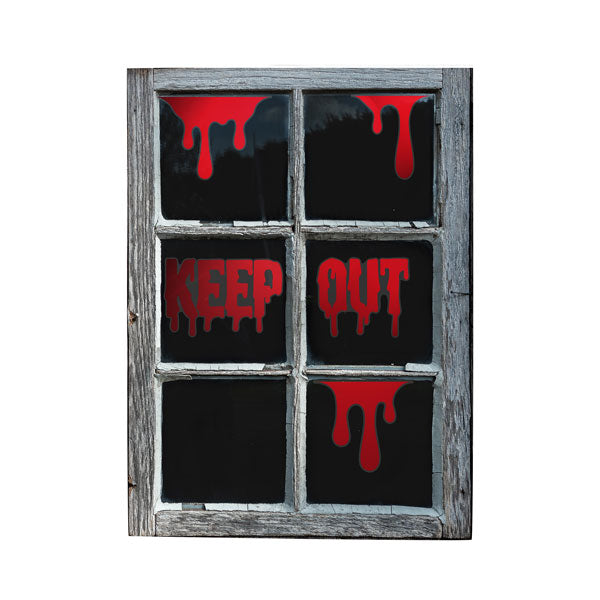'Keep Out' Window Clings