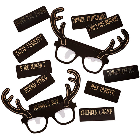 Stag Squad Party Glasses
