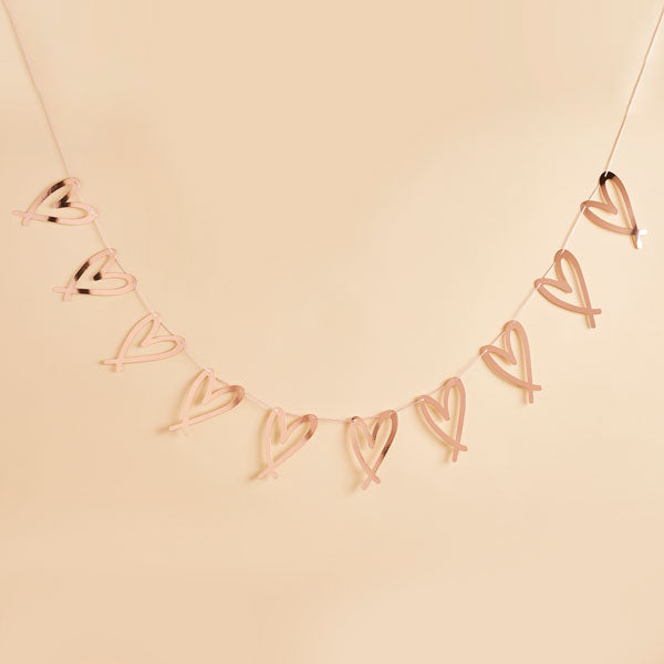Rose Gold Heart Garland