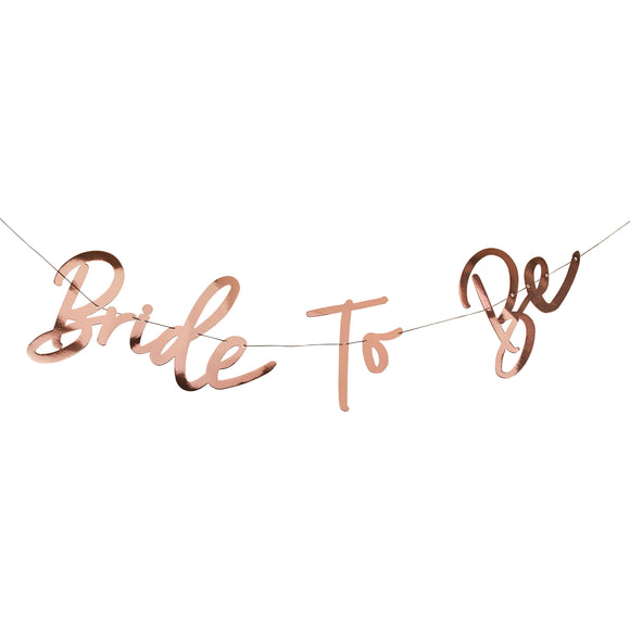 Rose Gold Bride to be Banner 1.5M