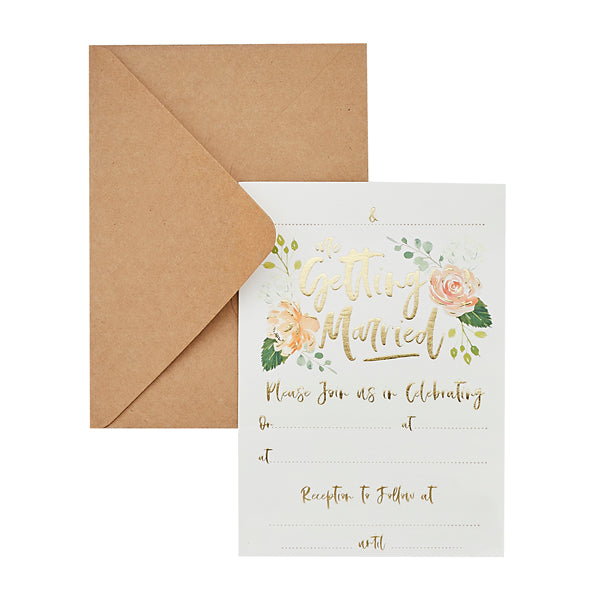 25 Day Invitations & Kraft Envelopes