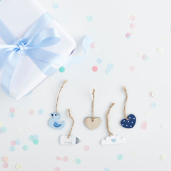 Blue Wooden Charms