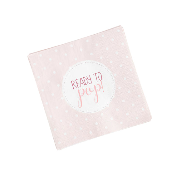 20 Pink 'Ready to Pop' Napkins