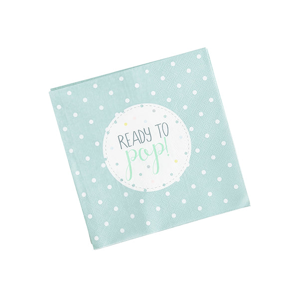 20 Unisex 'Ready to Pop' Napkins