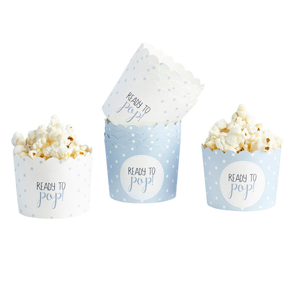 10 Blue Ready to Pop Spotted Cups