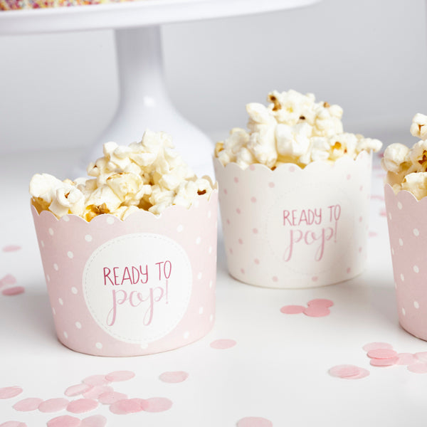 10 Pink Ready to Pop Spotted Cups