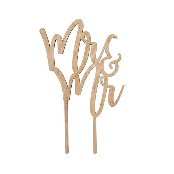 Wooden Mr & Mr Cake Topper