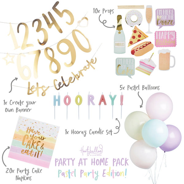 Pastel Party At Home Pack