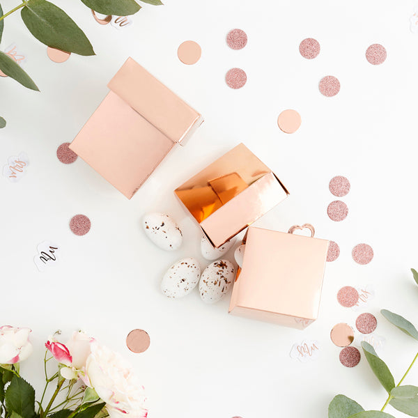 10 Rose Gold Favour Boxes