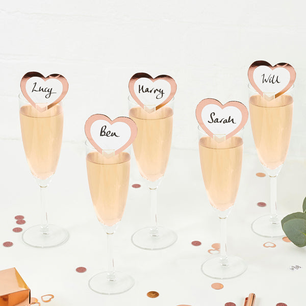 10 Rose Gold Drink Markers