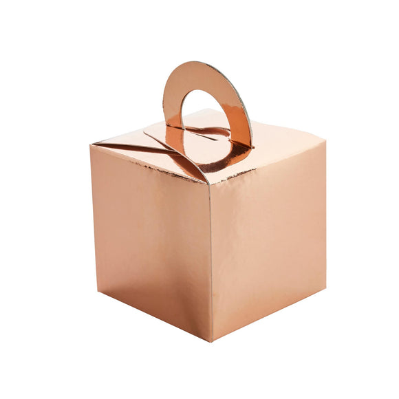 5 Rose Gold Balloon Weight Boxes