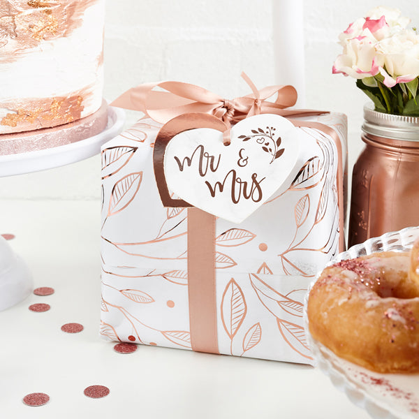 Mr & Mrs Rose Gold Gift Wrapping Kit