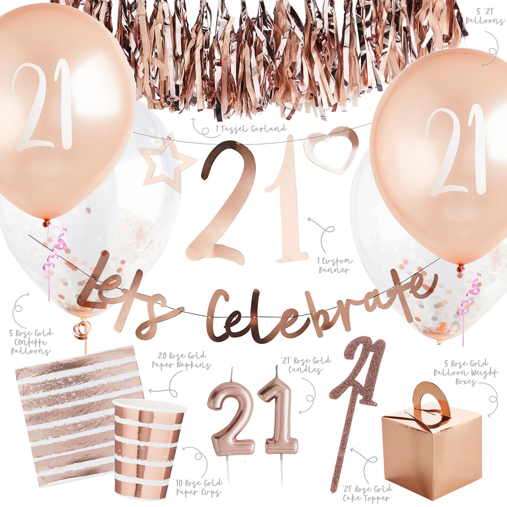 Rose Gold 21st Party Bundle