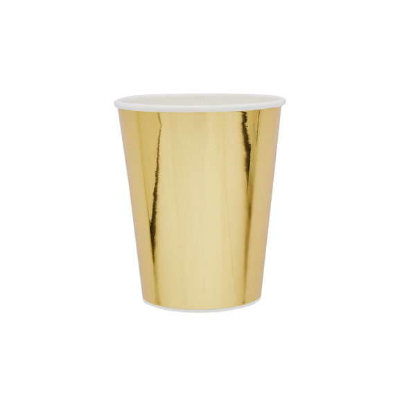 10 Gold Paper Cups