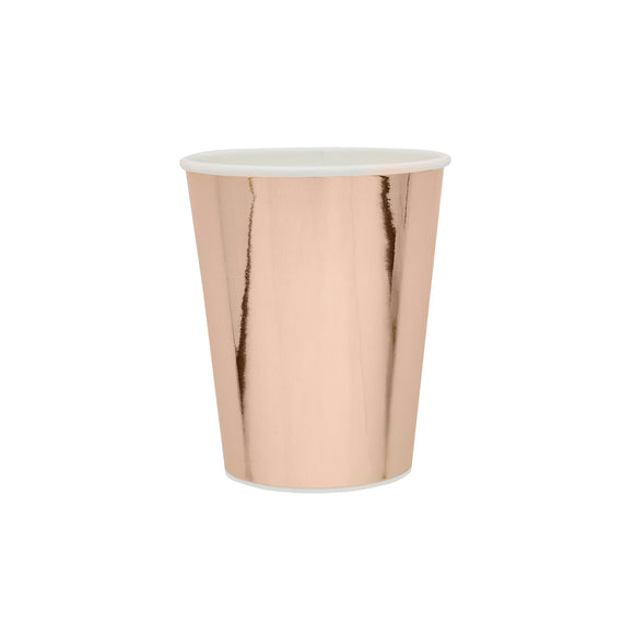 10 Rose Gold Paper Cups
