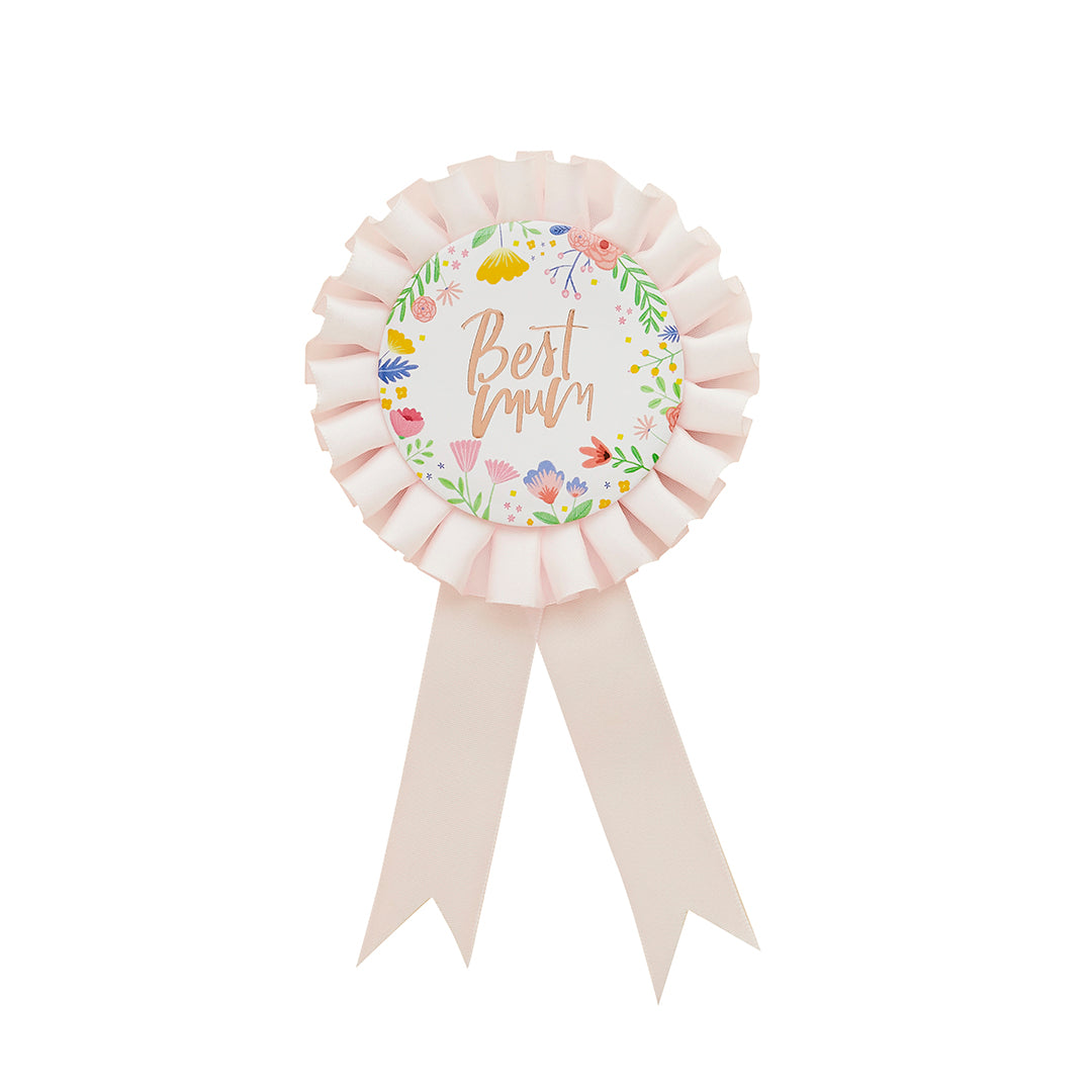 Mothers Day Best Mum Badge