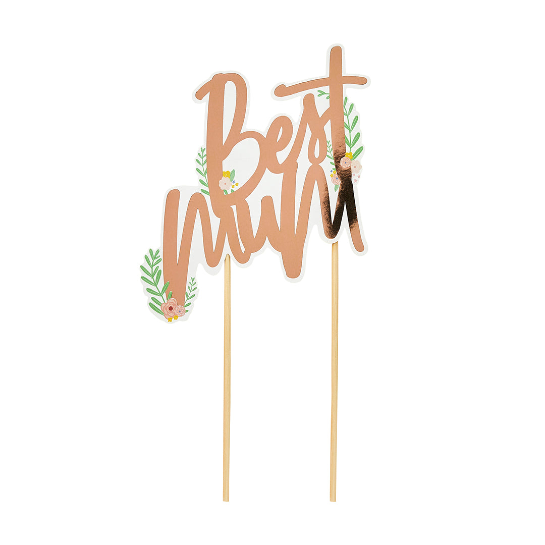 Mother's Day Best Mum Cake Topper