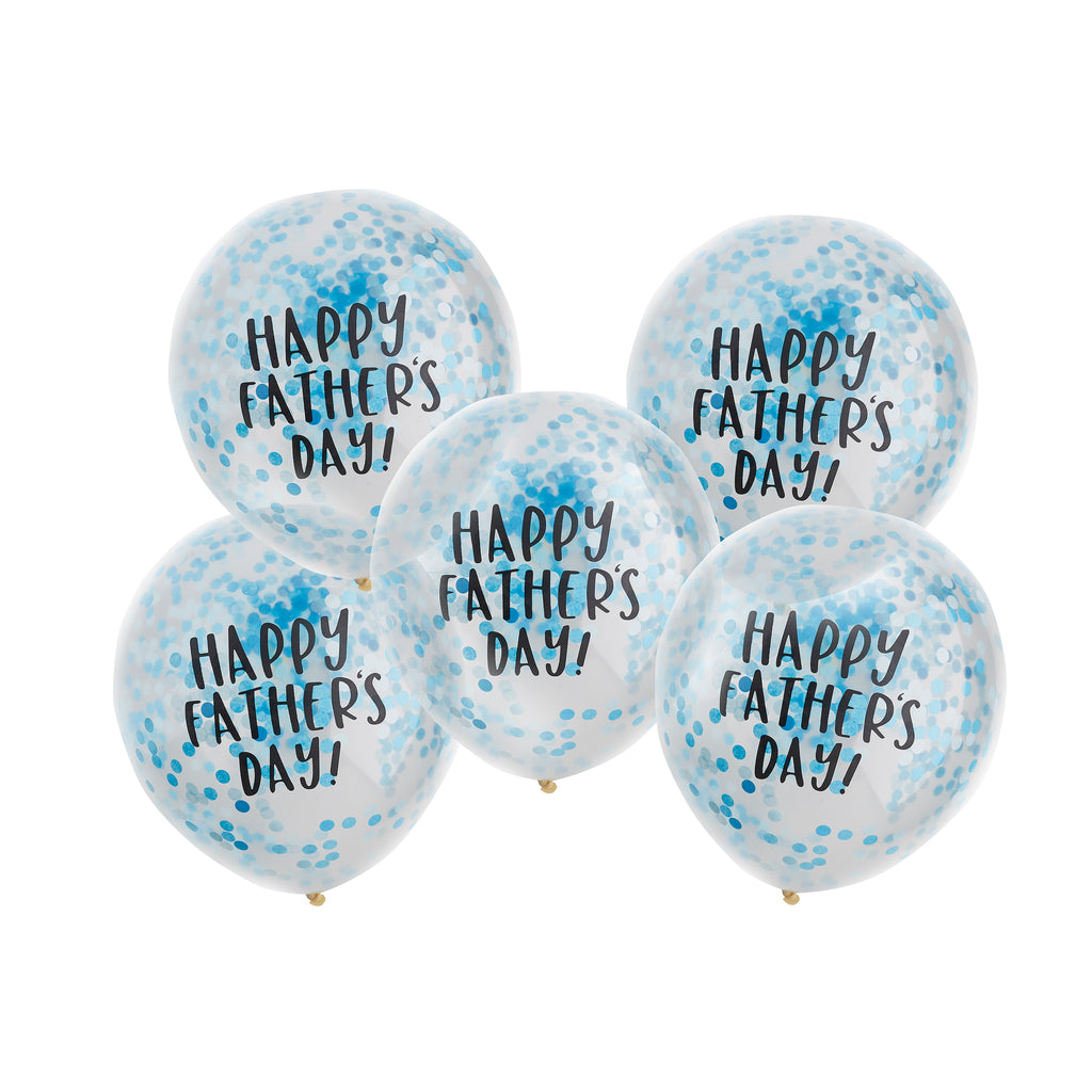 5 Happy Father's Day Confetti Balloons