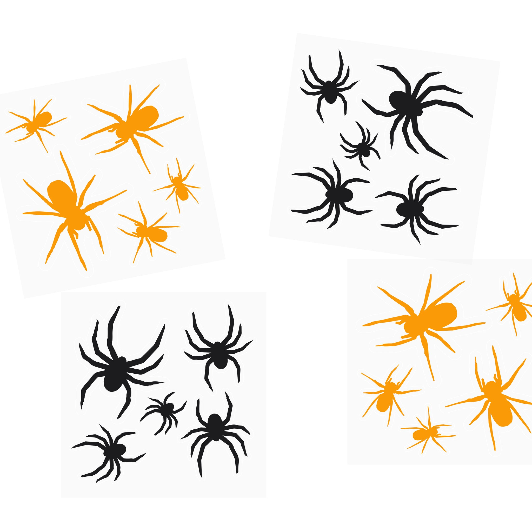 2 Spider Stickers Sheets