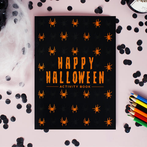 Kids Halloween Activity Booklet & 6 Pencils