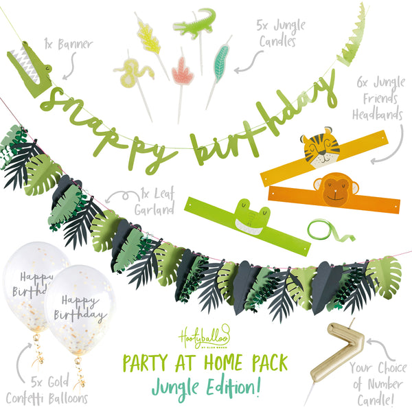 Snappy Birthday Jungle Party At Home Pack