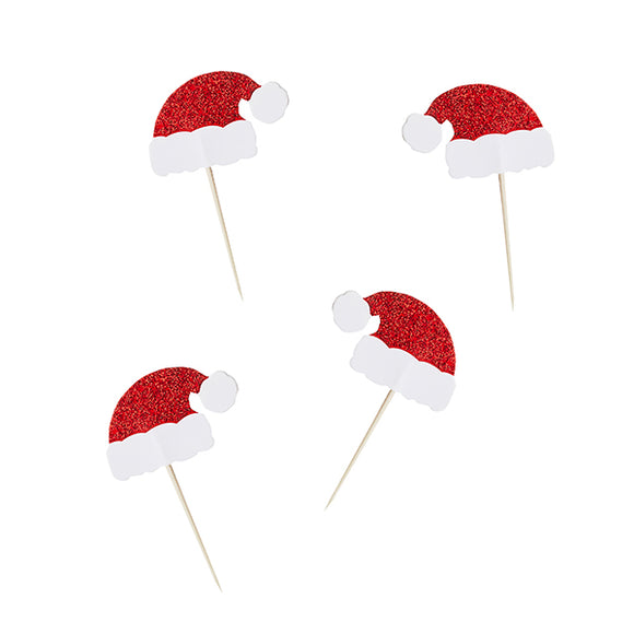 6 Santa Hat Food Picks