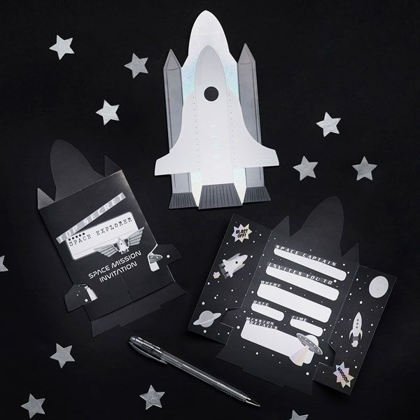 10 Space Party Invitations