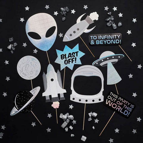 Space Party Photo Booth Props