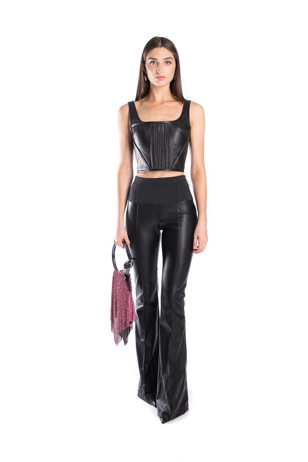 Trousers In Faux Leather