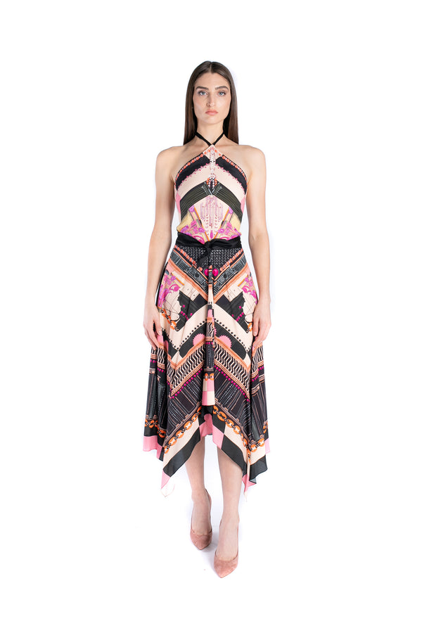 Obelisk Halter Dress
