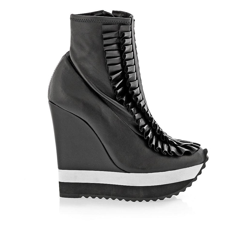 Demi Leather Wedge