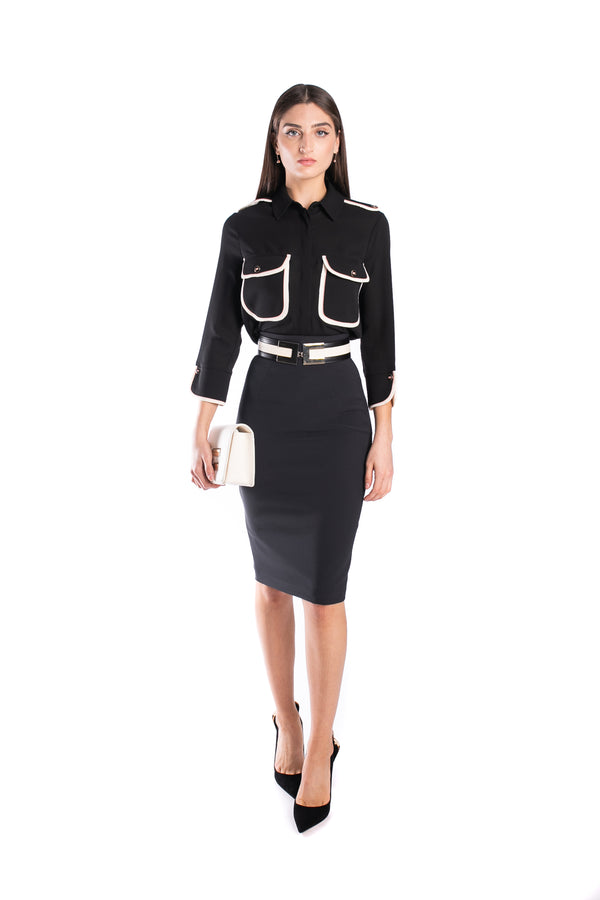 Slim-fit Skirt With Belt