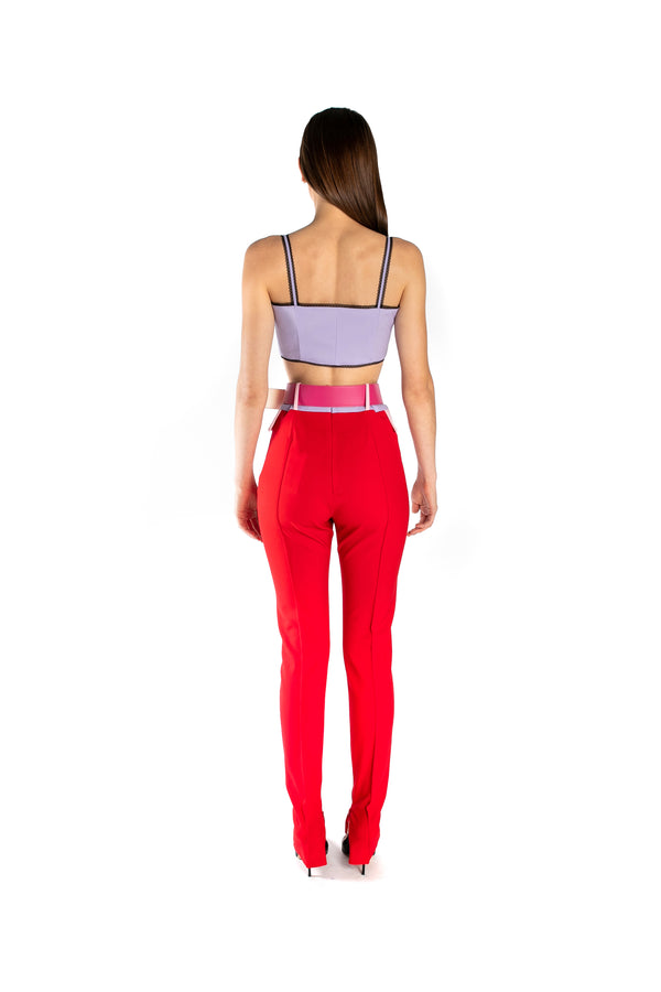 Multicolor Skinny High-Rise Pants