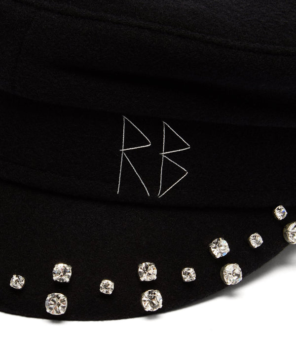 Baker Boy Cap with Crystals