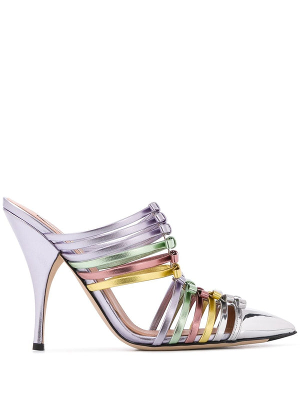 Metallic Strappy Pumps