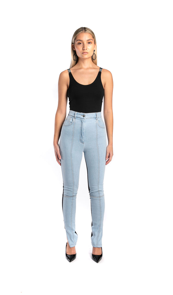 Jersey/Denim Leggings